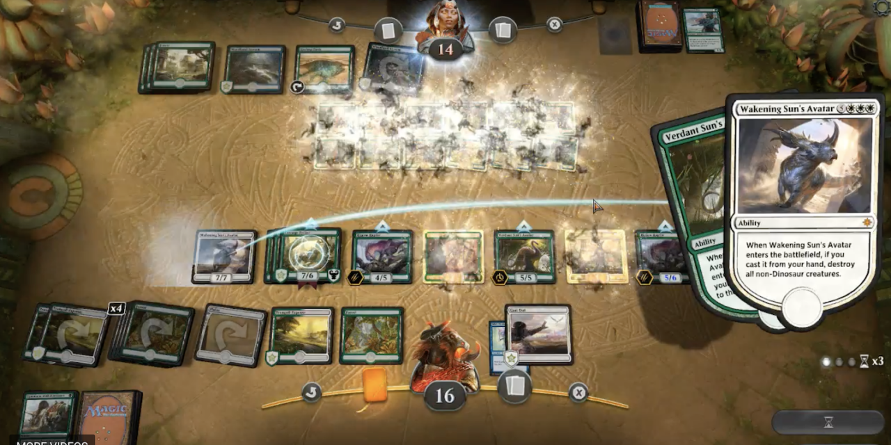 Streamer Clip: Merfolks vs Dinos Standoff Ends in a BOOM! MTG ARENA BETA